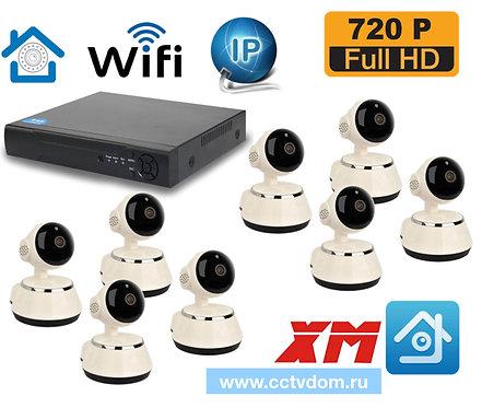 KIT8IPWF380HD720P. Комплект IP Wi-Fi видеонаблюдения на 8 внутренних камер HD