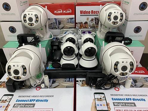 KIT8IPWF380MQ. Комплект IP Wi-Fi видеонаблюдения на 8 поворотных камер