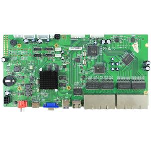 NBD8916F4-Q. 16ch 5M POE NVR Board 16POE ports