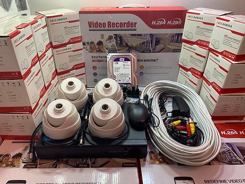 KIT4AHD310W720P. Комплект видеонаблюдения на 4 внутренние камеры HD720P