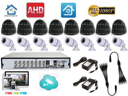 KIT16AHD100W300B1080P. Комплект системы видеонаблюдения на 16 камер