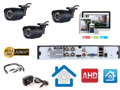 KIT3AHD100B1080P. Комплект видеонаблюдения на 3 уличные FULL HD 1080P камеры.