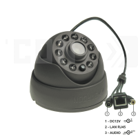 SAF-IPA310.Full HD.(Пластик/Темно-серая). Внутренняя 2Мп IP камера с ИК.