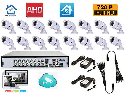 KIT16AHDHD720P100W. Комплект видеонаблюдения на 16 HD720P камер.
