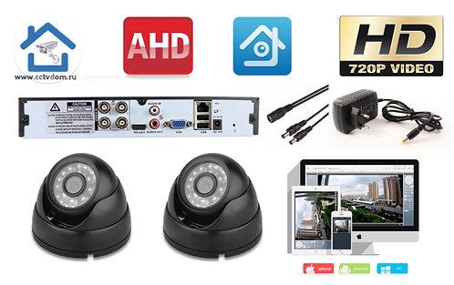 KIT2AHD300B720P. Комплект видеонаблюдения на 2 внутренние HD720P камеры.
