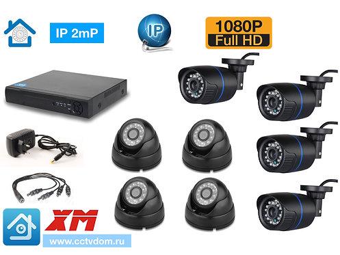 KIT8IP100B300B1080P. Комплект IP видеонаблюдения на 8 камер 2мП 1080P