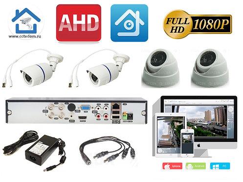 KIT4AHD100W300W1080P. Комплект системы видеонаблюдения на 4 камеры