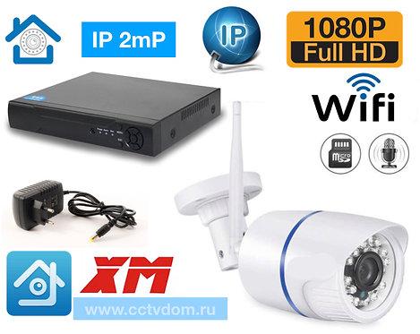 KIT1IPWF100W1080P. Комплект IP Wi-Fi видеонаблюдения на 1 уличную камеру 2мП