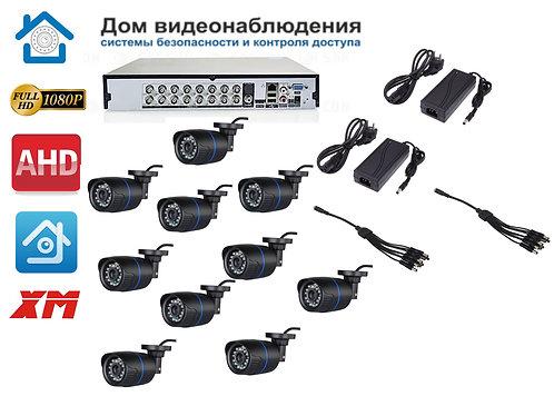 KIT10AHD100B1080P. Комплект видеонаблюдения на 10 уличных FULL HD 1080P камер.