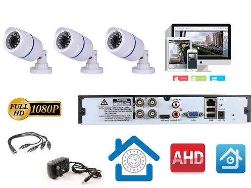 KIT3AHD100W1080P. Комплект видеонаблюдения на 3 уличные FULL HD 1080P камеры.