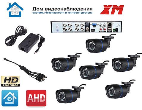 KIT6AHD100B720P. Комплект видеонаблюдения на 6 уличных HD720P камер.