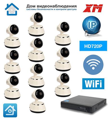 KIT10IPWF380HD720P. Комплект IP Wi-Fi видеонаблюдения на 10 камер