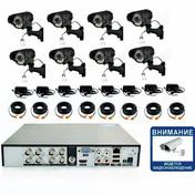 20700р. HD720P. Вариофокал. Комплект видеонаблюдения на 8 уличных HD720P камер.