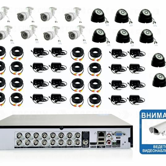 30460р. Full HD1080P. Комплект видеонаблюдения на 8 внутренних и 8 уличных Full HD камеры.