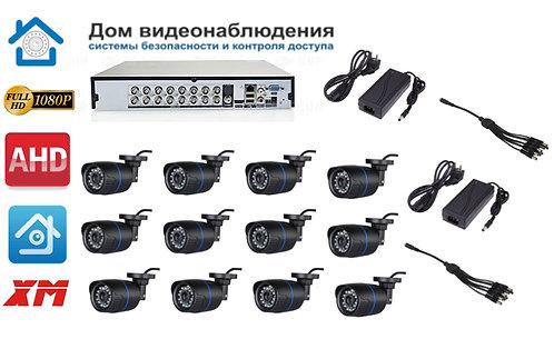 KIT12AHD100B1080P. Комплект видеонаблюдения на 12 уличных FULL HD 1080P камер.