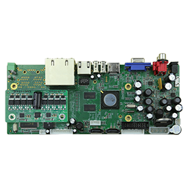 NBD7904T-Q 4ch3M/8ch3M NVR Board (POE)  4 POE ports Support POE power s