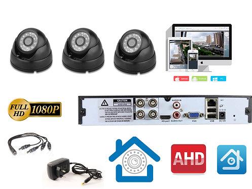 KIT3AHD300B1080P. Комплект видеонаблюдения на 3 внутренние 1080P камеры.
