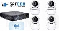 KIT4IP150.HD720P. Комплект Wi-Fi видеонаблюлюдения на 4 внутренние камеры