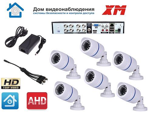 KIT6AHD100W720P. Комплект видеонаблюдения на 6 уличных HD720P камер.
