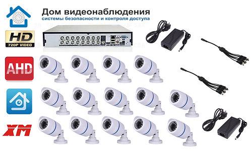 KIT14AHD100W720P. Комплект видеонаблюдения на 14 уличных HD720P камер.