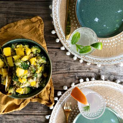 Quinoasalade met mango & broccoli