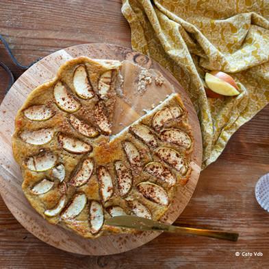 Bananenclafoutis met appel