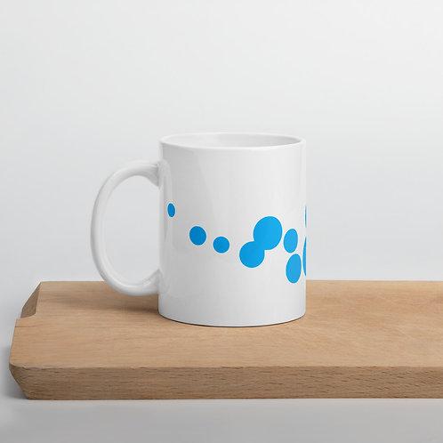 EJ Paper Airplane White glossy mug