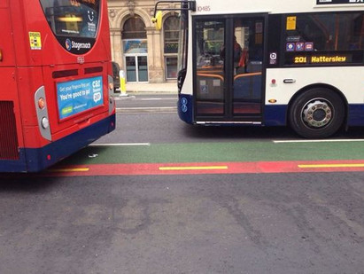 New bike lanes on Portland Street have made roads 'more dangerous as cyclists are sandwiched bet