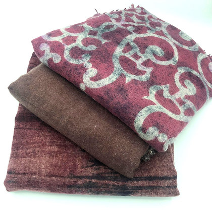 cashmere felted  plain or abstract stole
