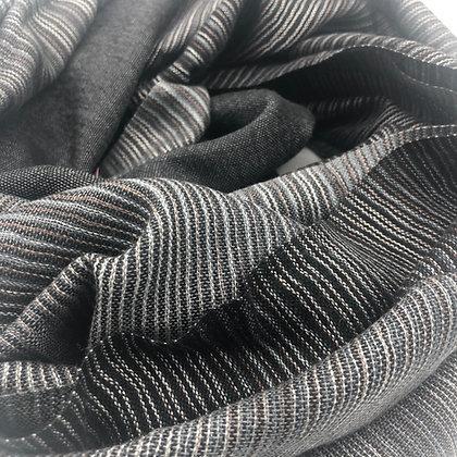 Ikat and blocks cashmere/silk stole