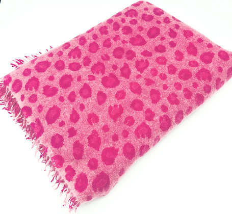 Leopard cashmere felted stole