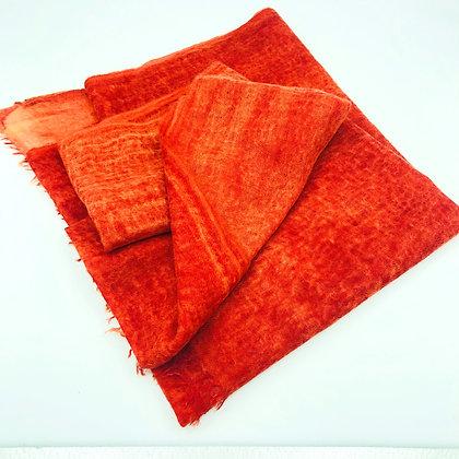 Spray dyed cashmere stole