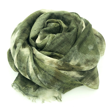 Ice Dyed cashmere stole