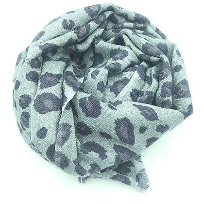 Leopard cashmere stole