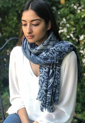 Arabesque cashmere felted stole