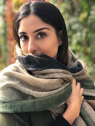 Felted  border ombrey shawl