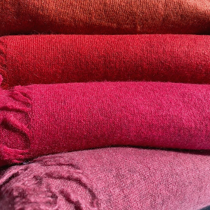 Cashmere knitted felted shawl