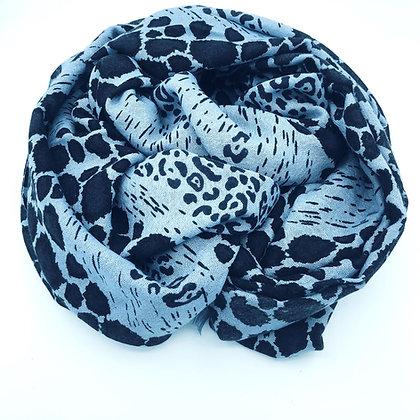 Animal print cashmere shawl