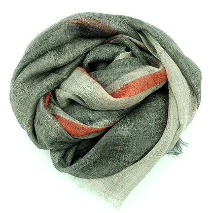Sheer cashmere veil- Stripe