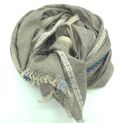 Embossed cashmere/ wool stole