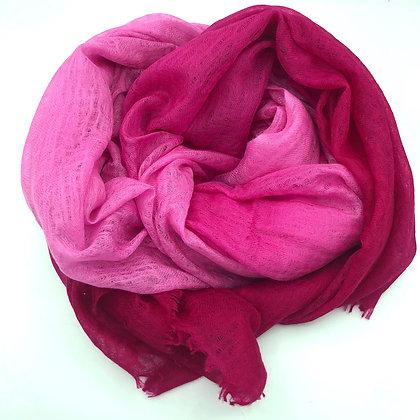 Felted ombrey shawl