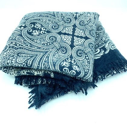 Paisley cashmere felted stole