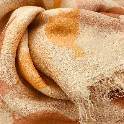 Peackock printed cashmere shawl