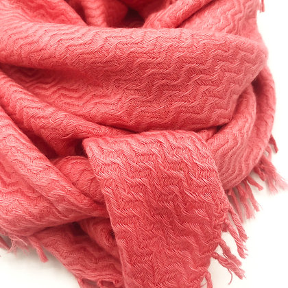 Blended Cashmere/ wool  herringbones square