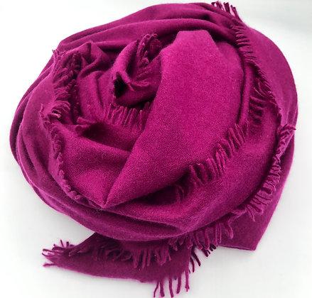 Plain cashmere felted shawl