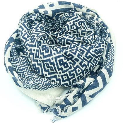 Geo printed cashmere shawl