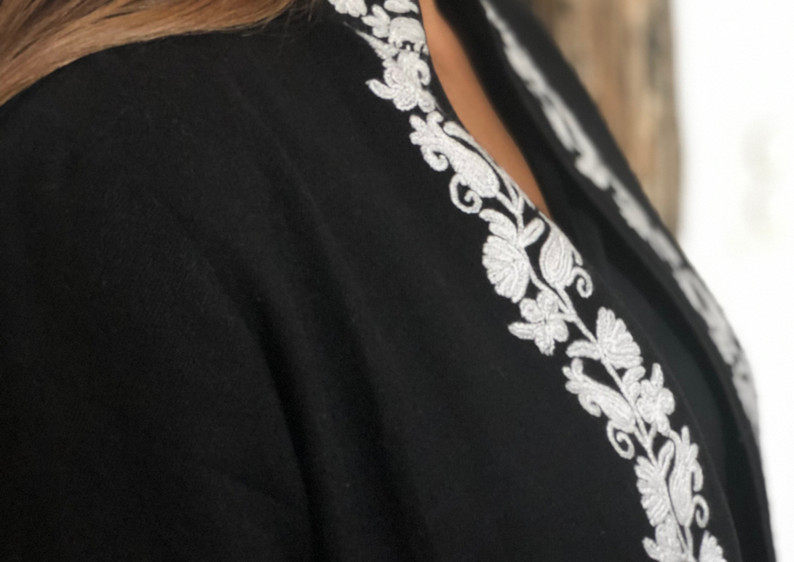 cashmere and silk embroided jacket