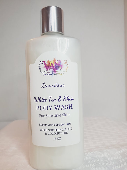 White Tea & Shea Body Wash for Sensitive Skin