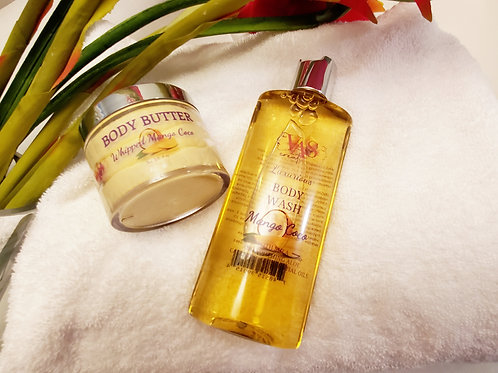Mango Coco Body Wash & Whipped Body Butter Combo Set