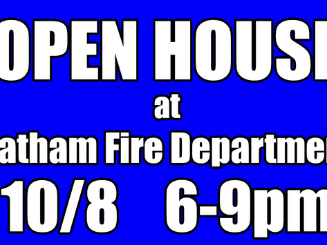 Open House on Friday, October 8th
